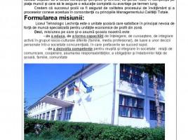 Plan de Acţiune al Şcolii Liceul Tehnologic Lechinţa